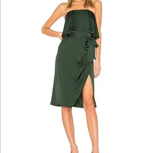 Lovers and friends emerald midi dress